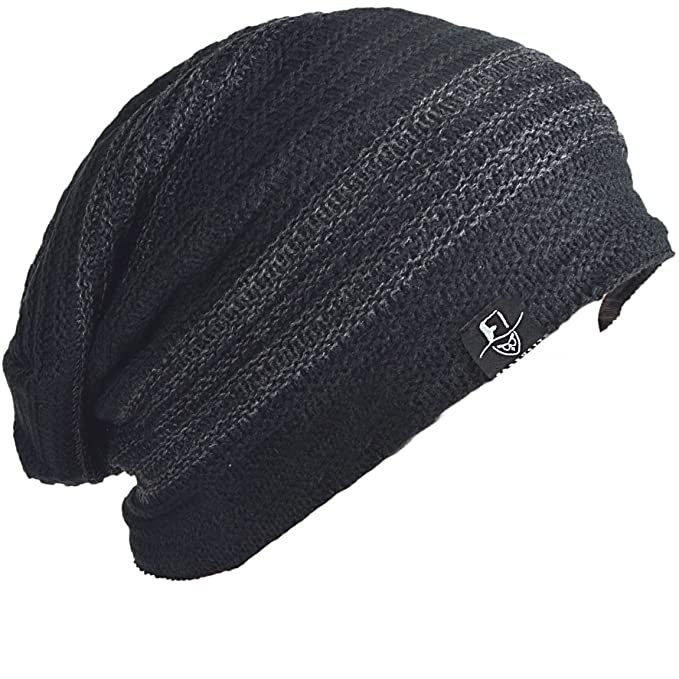 bb843efc9c4cdb FORBUSITE Mens Slouchy Knit Beanie Summer Winter Skullcap Hats B306 Charcoal