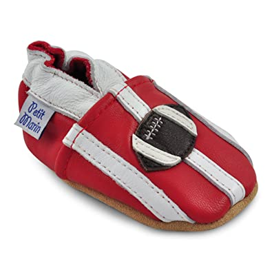 Amazon.com | Petit Marin Beautiful Soft Leather Baby Shoes with ...
