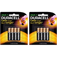 Duracell Alkaline AAA Battery with Duralock Technology - 8 Pieces (Black/Brown)