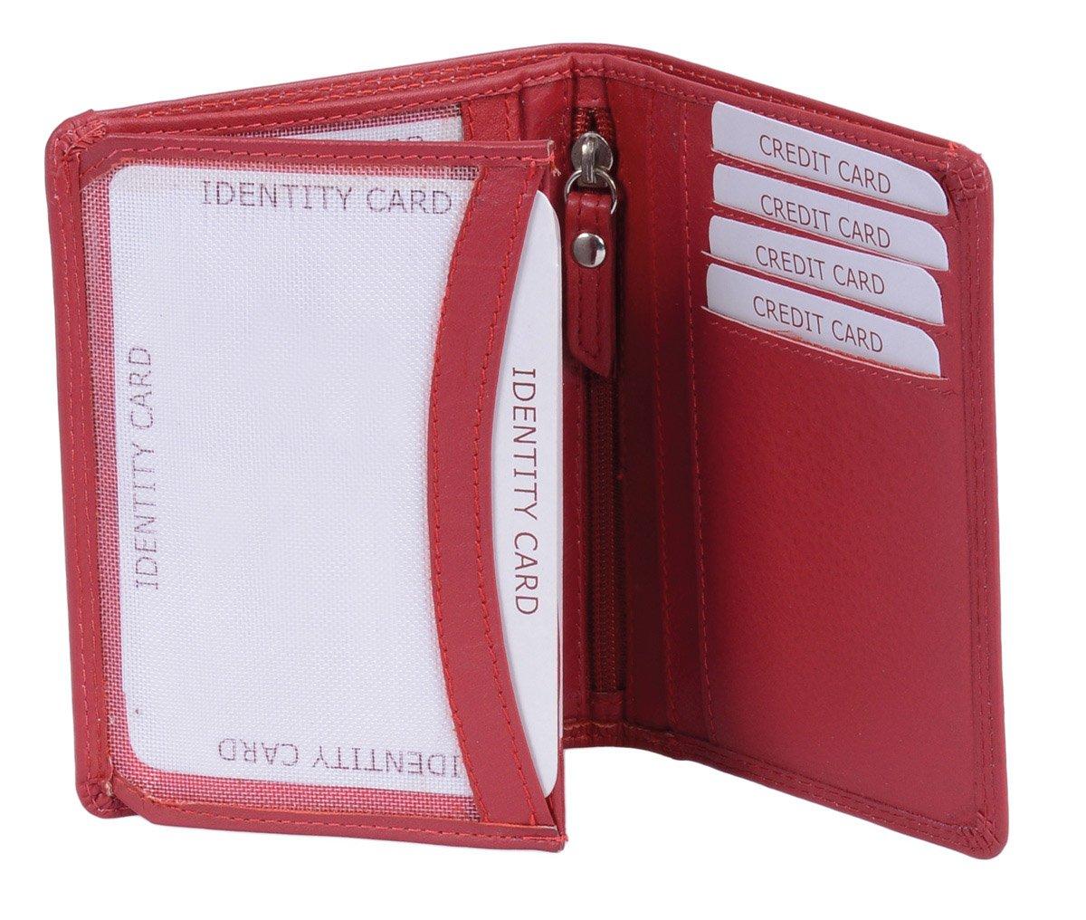 LEAS Ausweishülle, Ausweismappe Echt-Leder, rot Card-Collection'' LEAS Ausweishülle LE2102-01-13