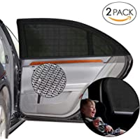 """STARRY 2 Pack Car Window Shades Car Accessories, UV Sun Protection for Baby Adults Pets, Portable Car Sun Shades for baby kids, 40""""x20"""" Fits Most Vehicles"""