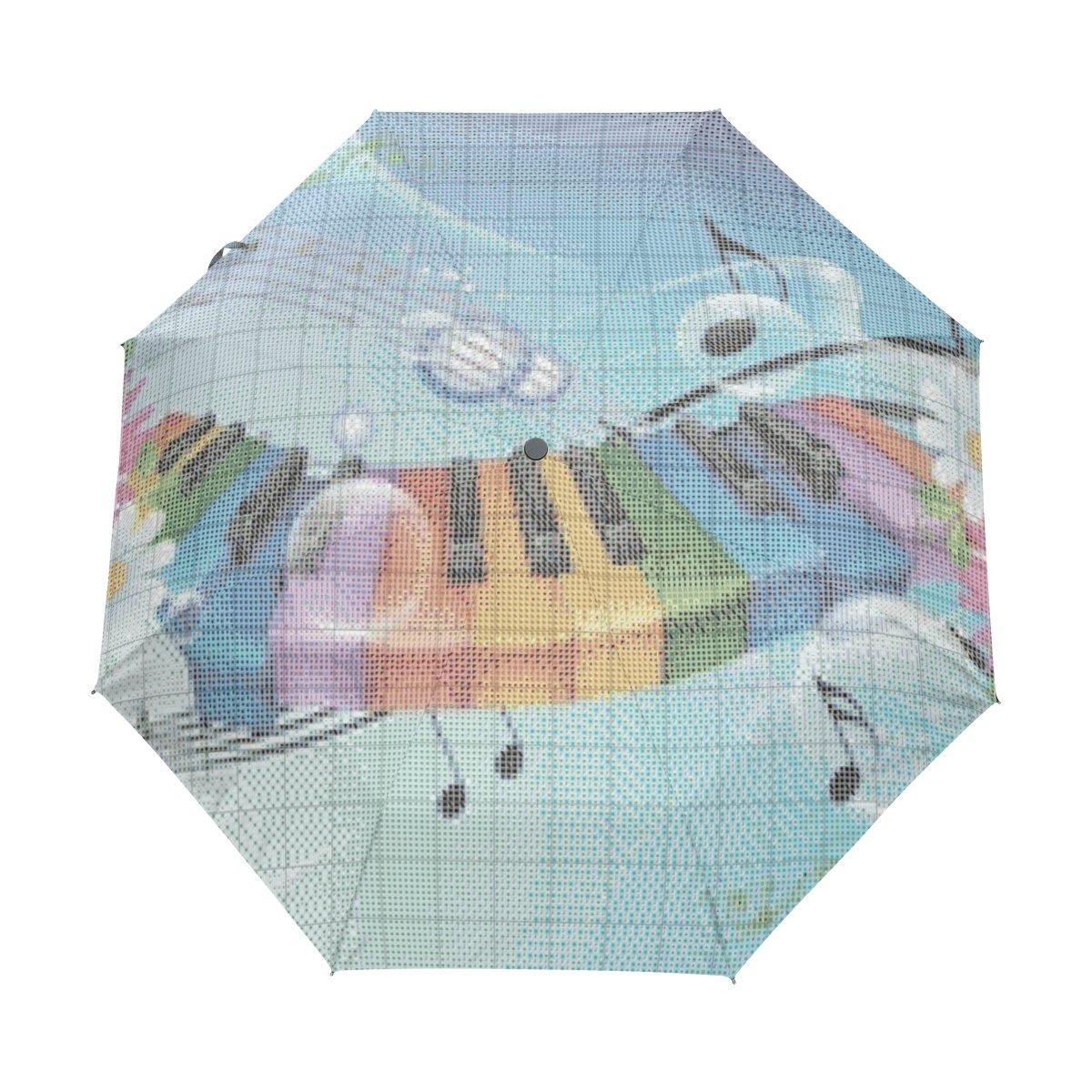 lavovo音楽花傘ダブルキャノピー自動オープンand Close折りたたみ式旅行雨傘   B073TSVQD7