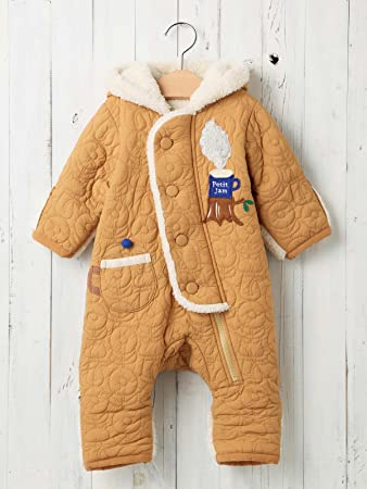 694e56cc59180 Petit jam プチジャム ベビー teatime ジャンプ スーツ 赤ちゃん ベビー服 防寒 男の子 女の子 アウター 70㎝ ベージュ