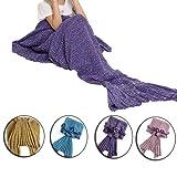 Amazon Price History for:Feiuruhf Soft Mermaid Tail Blanket Handmade Living Room Sleeping Bag For Kids (purple)