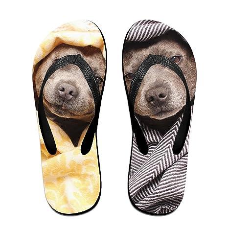 1a3af260cd66cf WOOD-RAIN Women Pitbulls Dogs Cute Beach Flip Flops Sandal Summer Beach  Slippers Small Black