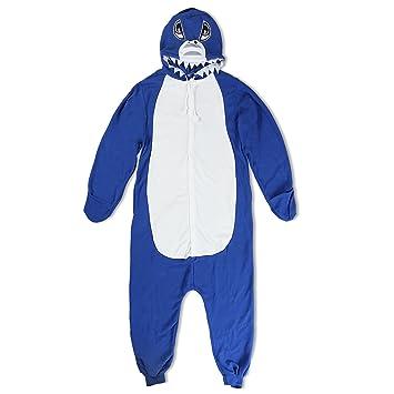 Katara - Pijama Una Pieza Adultos, Color Tiburón Azul Oscuro, Talla 145-155cm(S): Amazon.es: Juguetes y juegos