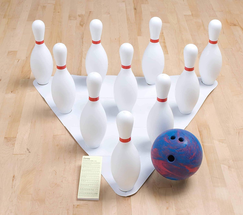 Champion Sports ウェイトボーリングセット: ラバーボール & プラスチックピン トレーニング&キッズゲーム用。