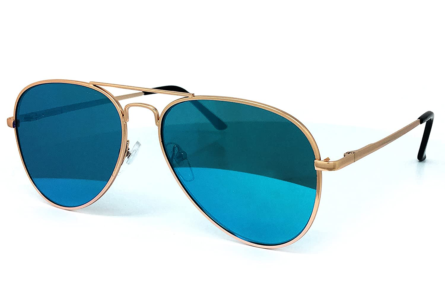 a6fb6517e1c Amazon.com  O2 Eyewear 450 Premium Oversized Flat Aviator Mirrored Sunglass  Womens Mens (XL