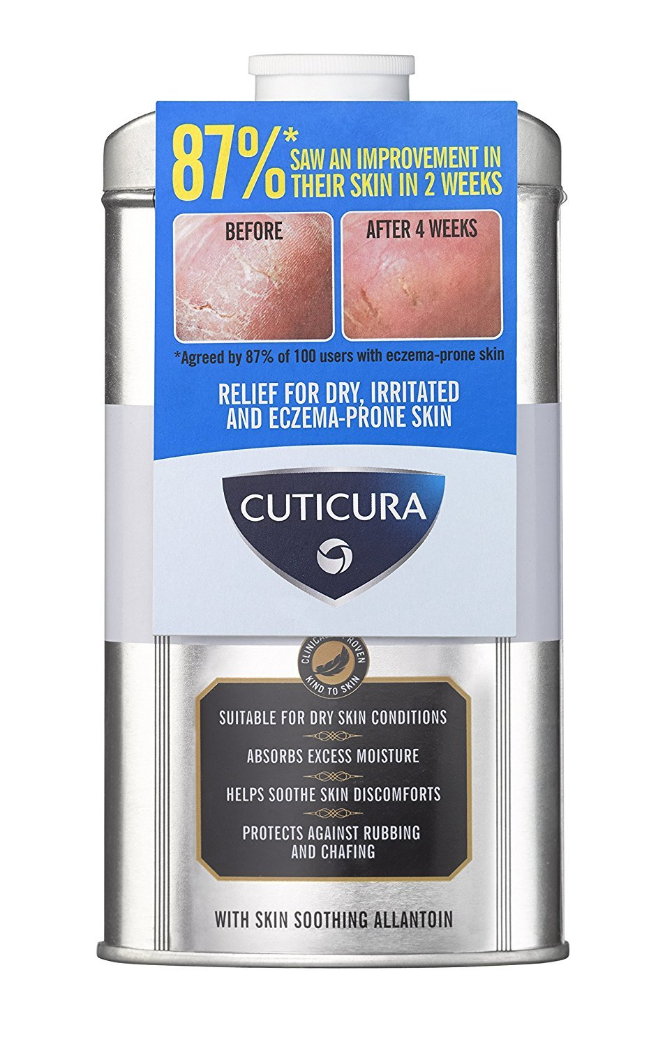 Cuticura Mildly Medicated Talcum Powder 150g Keyline Brands Ltd 880476 Bath & Shower Accessories hygienic talcum powder