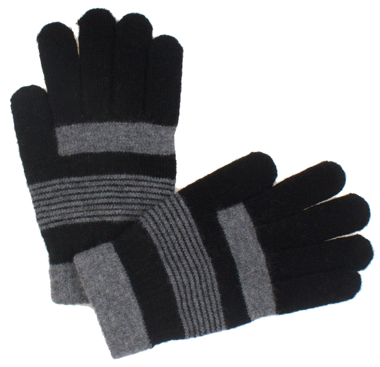 DRY77 Casual Unisex Magic Wool Gloves, Black Light Grey