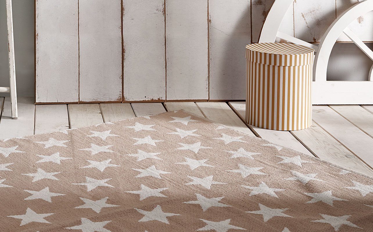 Creative Carpets Alfombra Infantil Estrellas, Algodón, Rosa ...