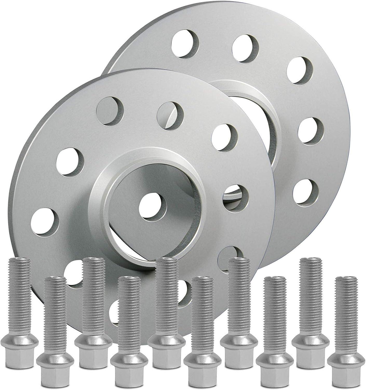 SilverLine Spurverbreiterung 30mm 12169E/_13/_M1415KU43B Schrauben silber 5x112 66,6mm 15mm Rad m