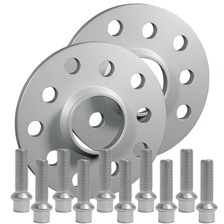 m SilverLine Spurverbreiterung 30mm Schrauben silber 5x112 66,6mm 15mm Rad 12169E/_19/_M1415KU43B