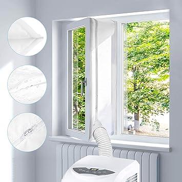 Sello de ventana para Aire Acondicionado Portátiles y Secadoras, Homegoo Airlock para Ventana Universal con Longitud Máxima de 400CM: Amazon.es: Bricolaje y herramientas