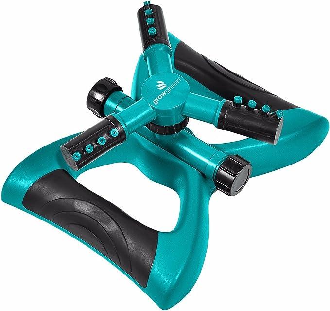 GrowGreen GG-LS001 Rotating Lawn Sprinkler - Most Powerful Sprinkler