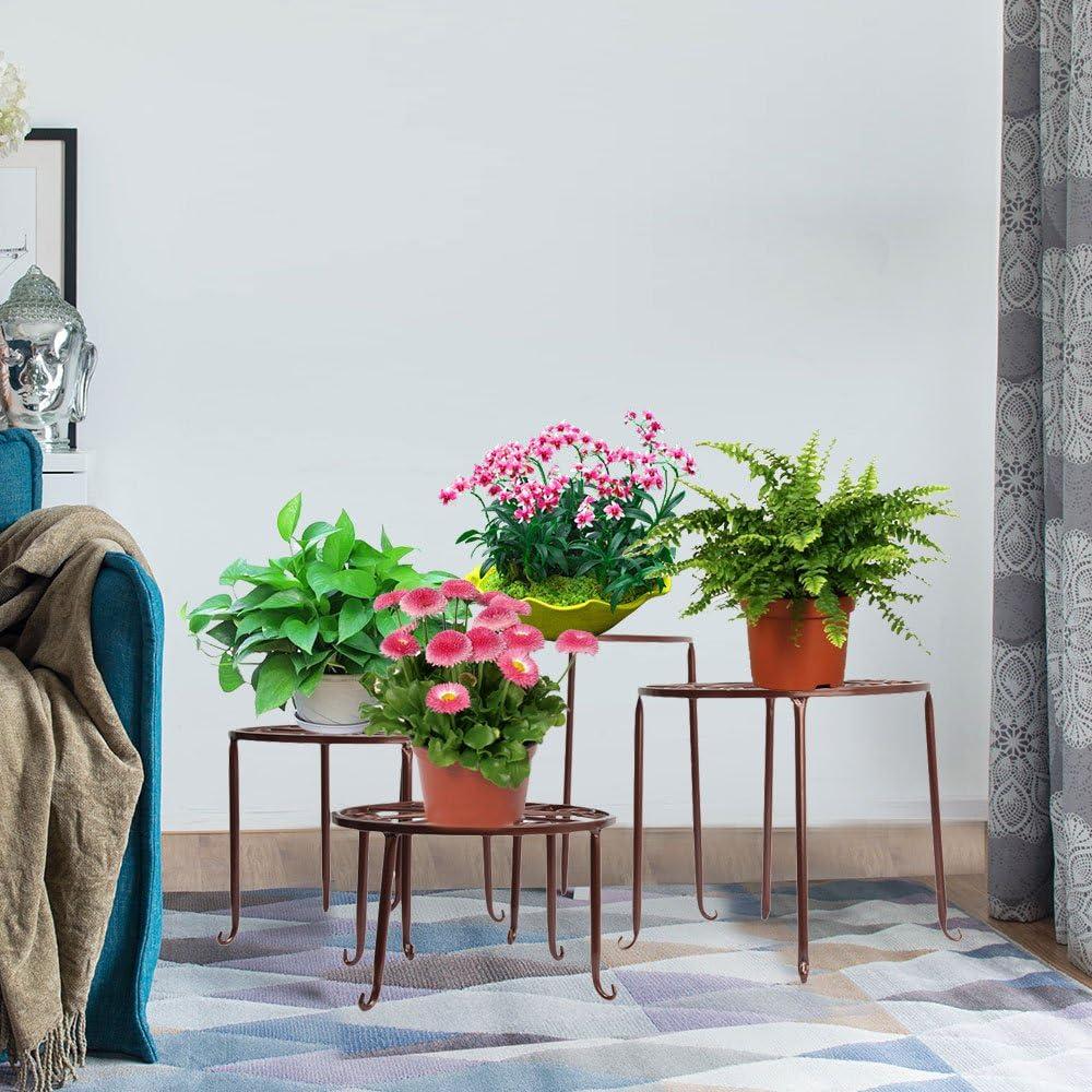 Negro Exteriores Salones FullBerg Estanter/ía de Metal para Flores con Diferentes tama/ños para Interiores jard/ín decoraci/ón