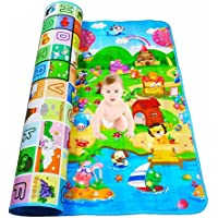 Wazdorf Playmat Waterproof, Anti Skid, Double Sided Baby Crawling Mat Waterproof Double Side Baby Play Crawl Floor Mat for Kids Picnic Play School Home (Large Size - 120 * 180cm) Waterproof