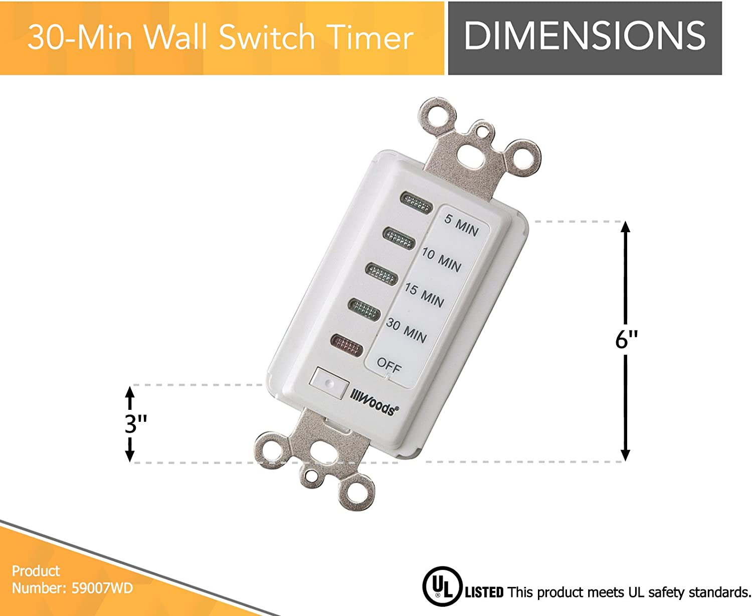 Woods 30 Minute Wall Timer