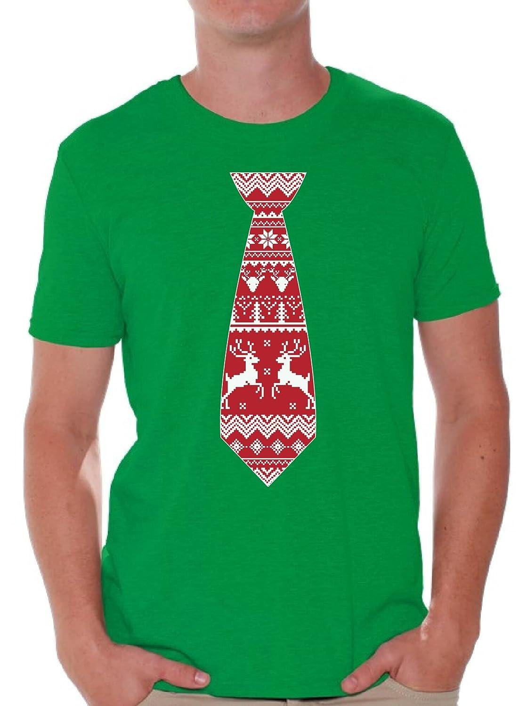 Awkward Styles SHIRT メンズ B07799LSBF  Red Christmas Tie Small