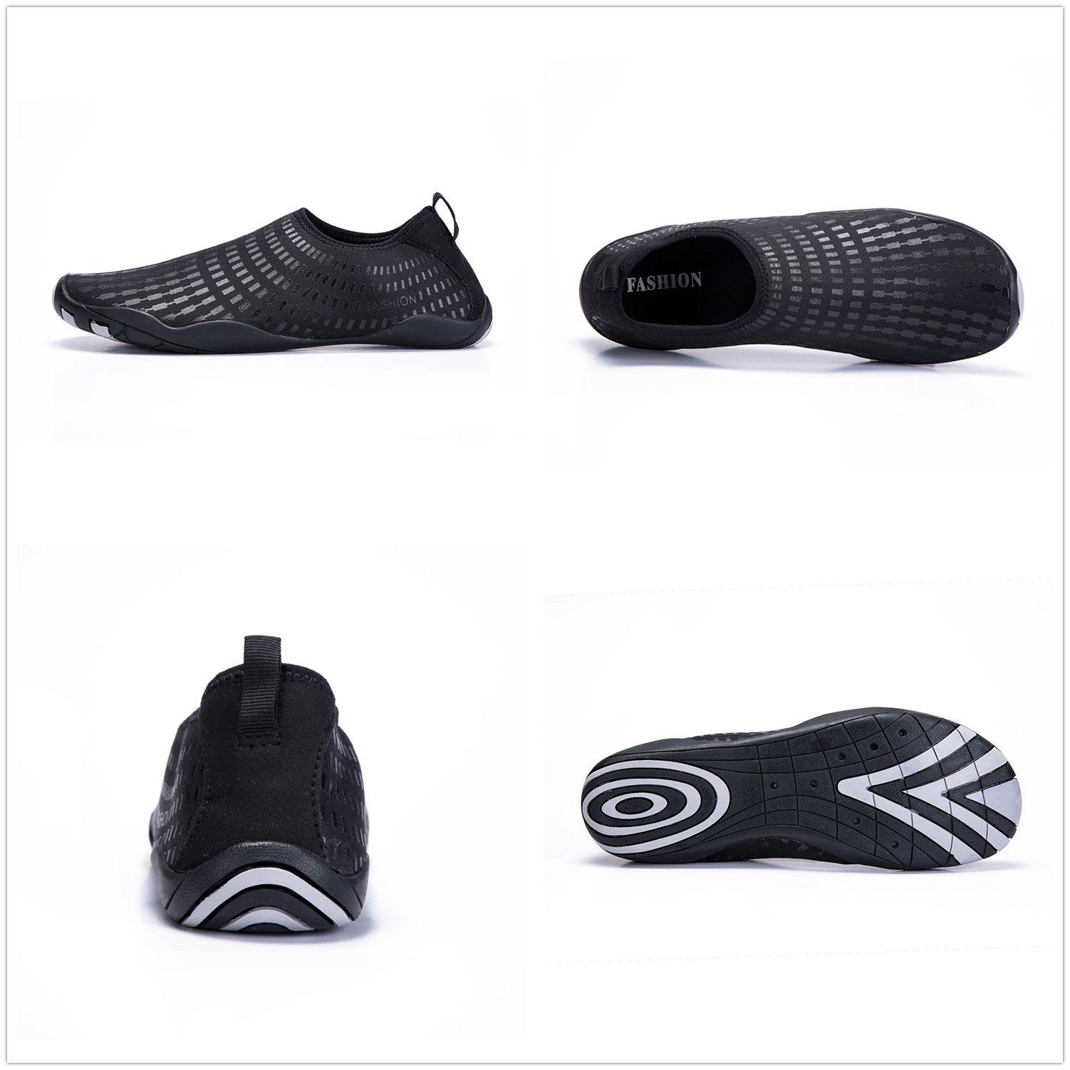 LeKuni Women's Mesh Slip on Water Shoes (12 Women/9.5 Men,42_61_Black) by LeKuni (Image #3)