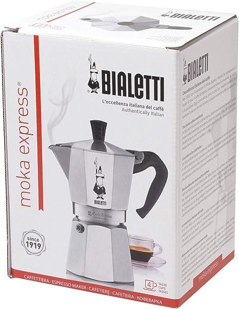 Bialetti Moka Express Cafetera Italiana Espresso, 4 Tazas ...