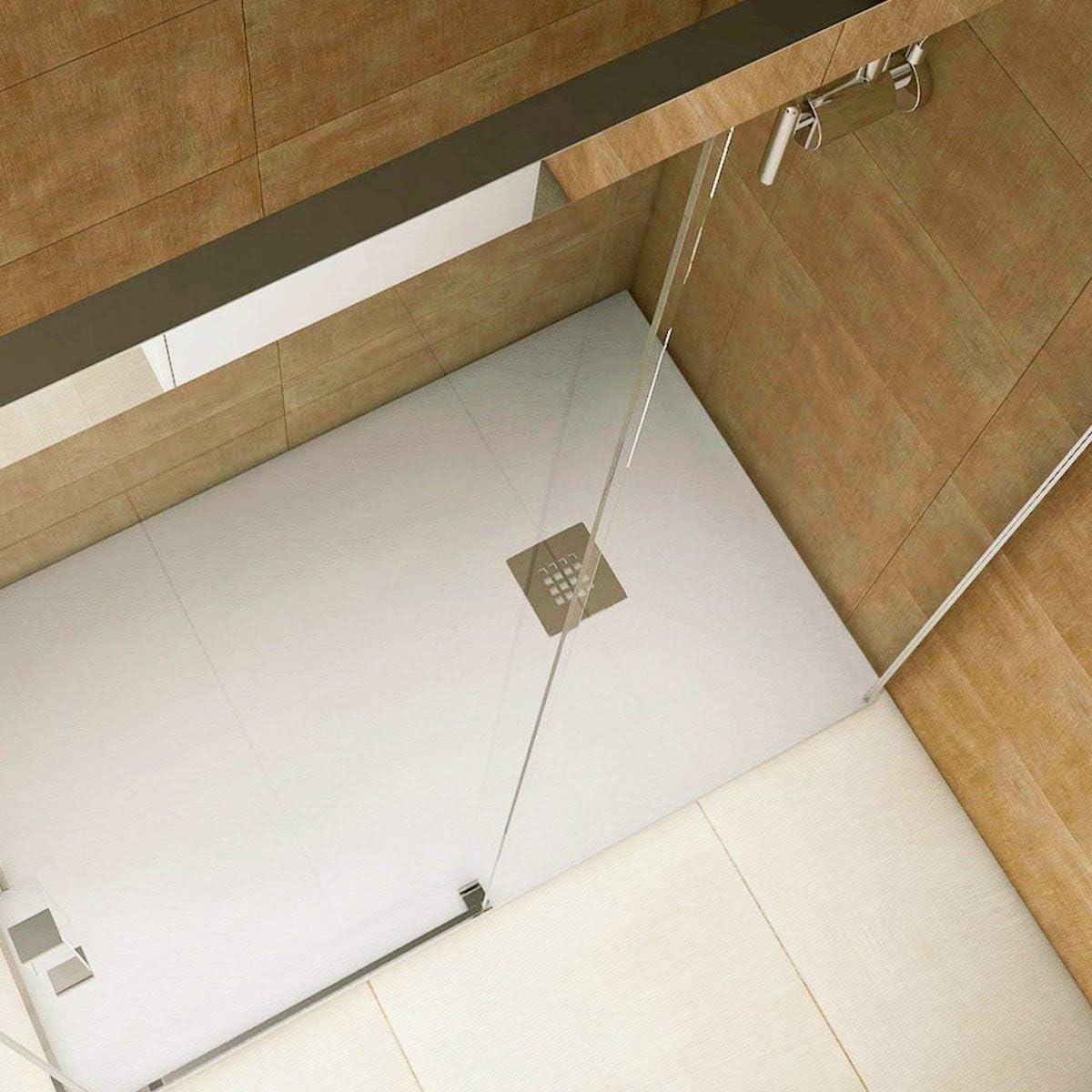 Plato de ducha resina convencional STANO de 70 cm de ancho CEMENTO ...