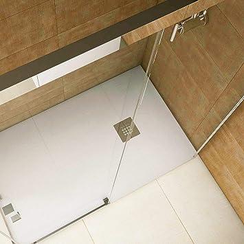 Plato de ducha resina convencional STANO de 70 cm de ancho CEMENTO: Amazon.es: Bricolaje y herramientas