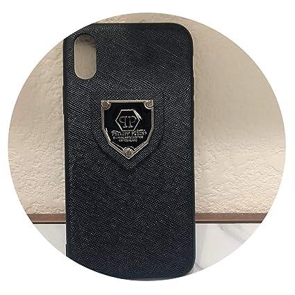 Amazon.com: Hot Philipp Plein - Funda de piel para iPhone XS ...