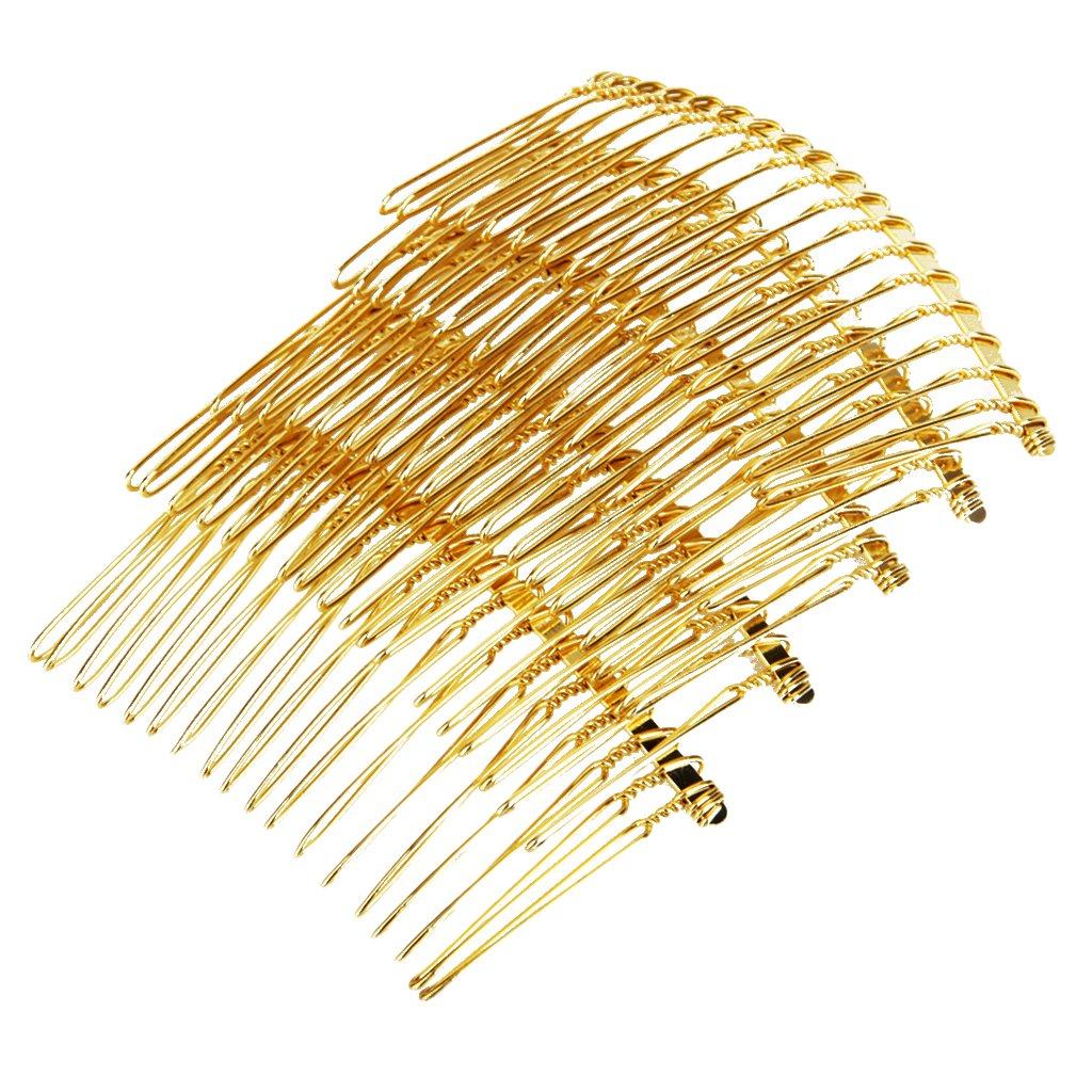 Sharplace Metall Einsteckkamm Haarkamm Haarkamme Steckkamm Hochzeit Schleier Kamm Gold