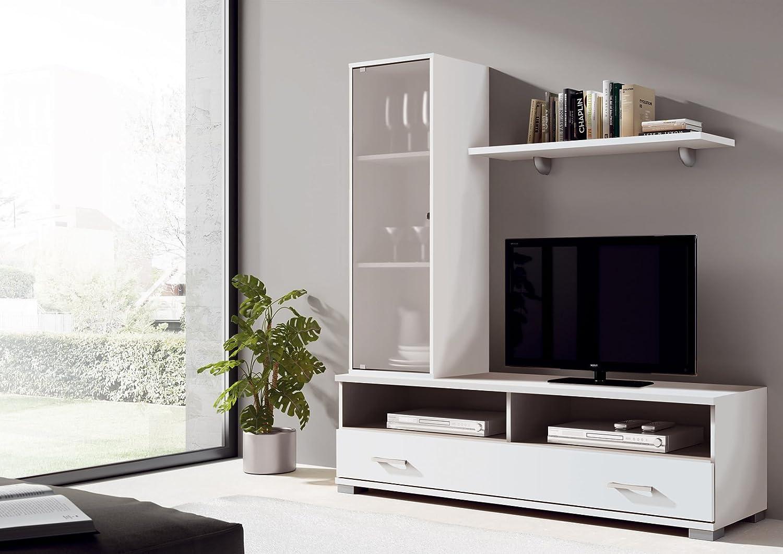Mueble De Comedor O Sal N Modular Con Vitrina De Cristal Color  # Muebles Pitarch