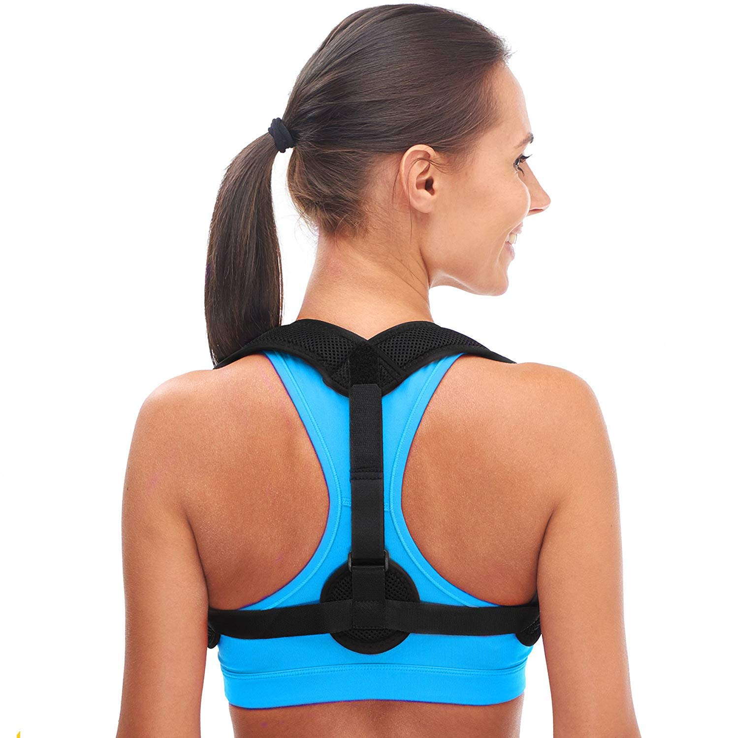 Andago Back Posture Corrector for Women & Men - Effective and Comfortable Posture Brace for Slouching & Hunching - Discreet Design - Clavicle Support
