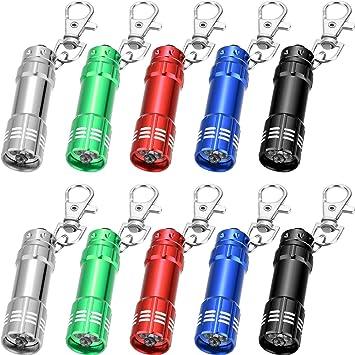 10 piezas Mini linterna LED llavero con 3 bombillas para ...