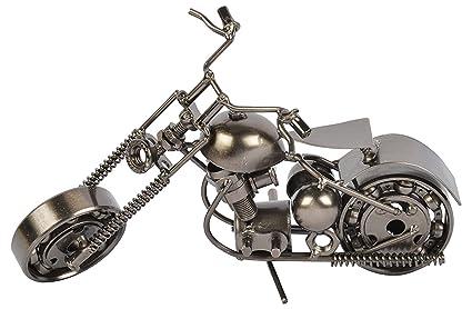 Craftatoz Metal Handmade Vintage Motor Bike Miniature Small 16 cm Long Decorative Showpiece for Home Decor