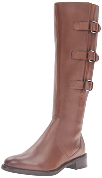 ECCO Women's Women's Hobart 25 mm Buckle Riding Boot, Cognac, 35 EU/4