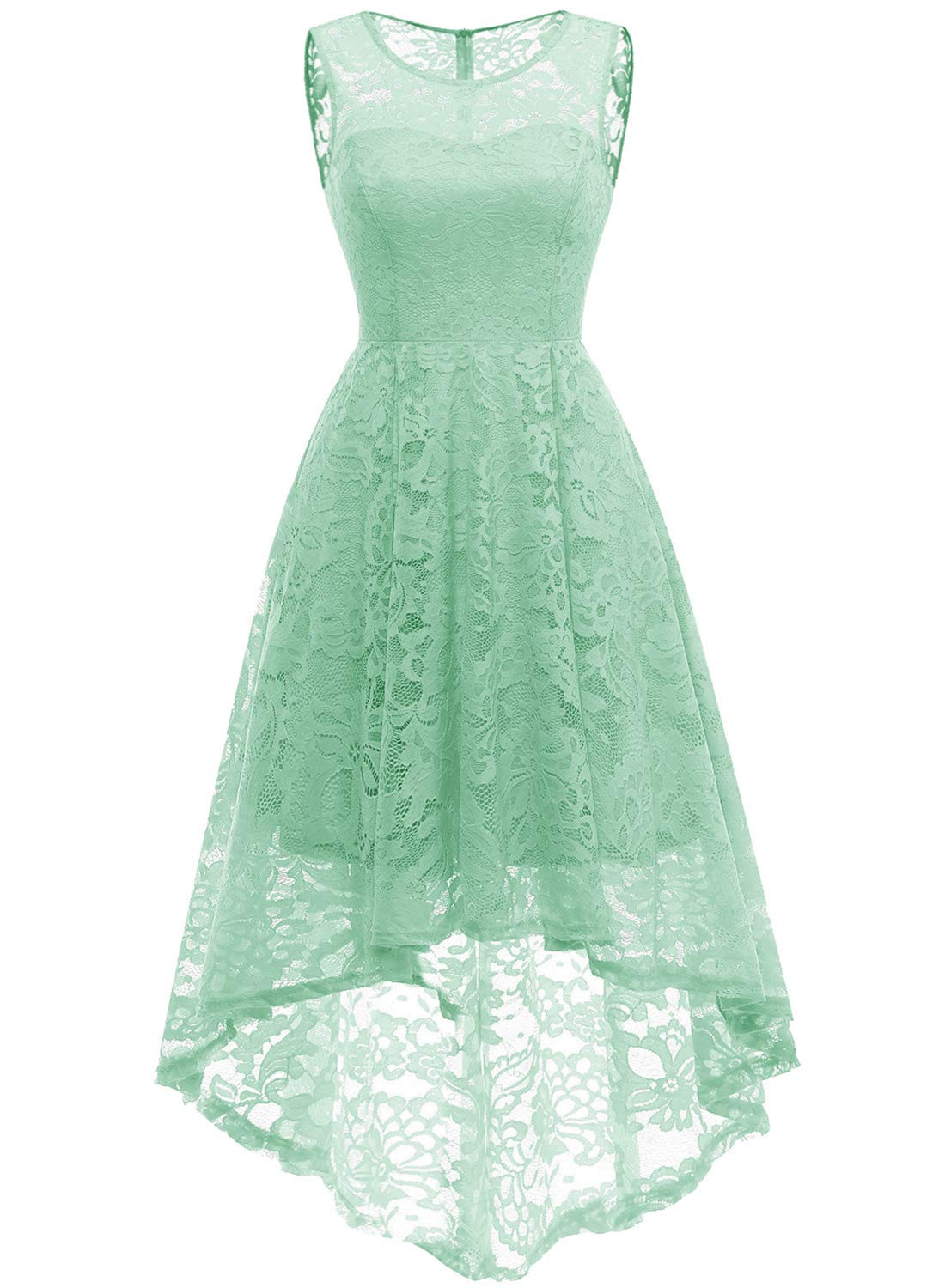 66907c19dd MUADRESS Women s Vintage Floral Lace Sleeveless Hi-Lo Cocktail Formal Swing  Dress product image