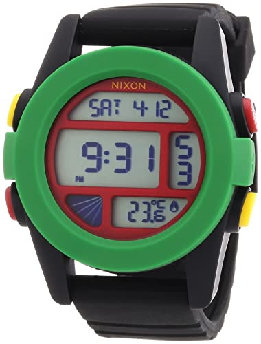 Nixon A1971114-00 - Reloj digital de cuarzo para hombre con correa de silicona, color negro: Nixon: Amazon.es: Relojes
