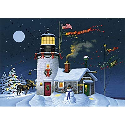 Charles Wysocki - Take Out Window - 1000 Large Piece Jigsaw Puzzle: Toys & Games