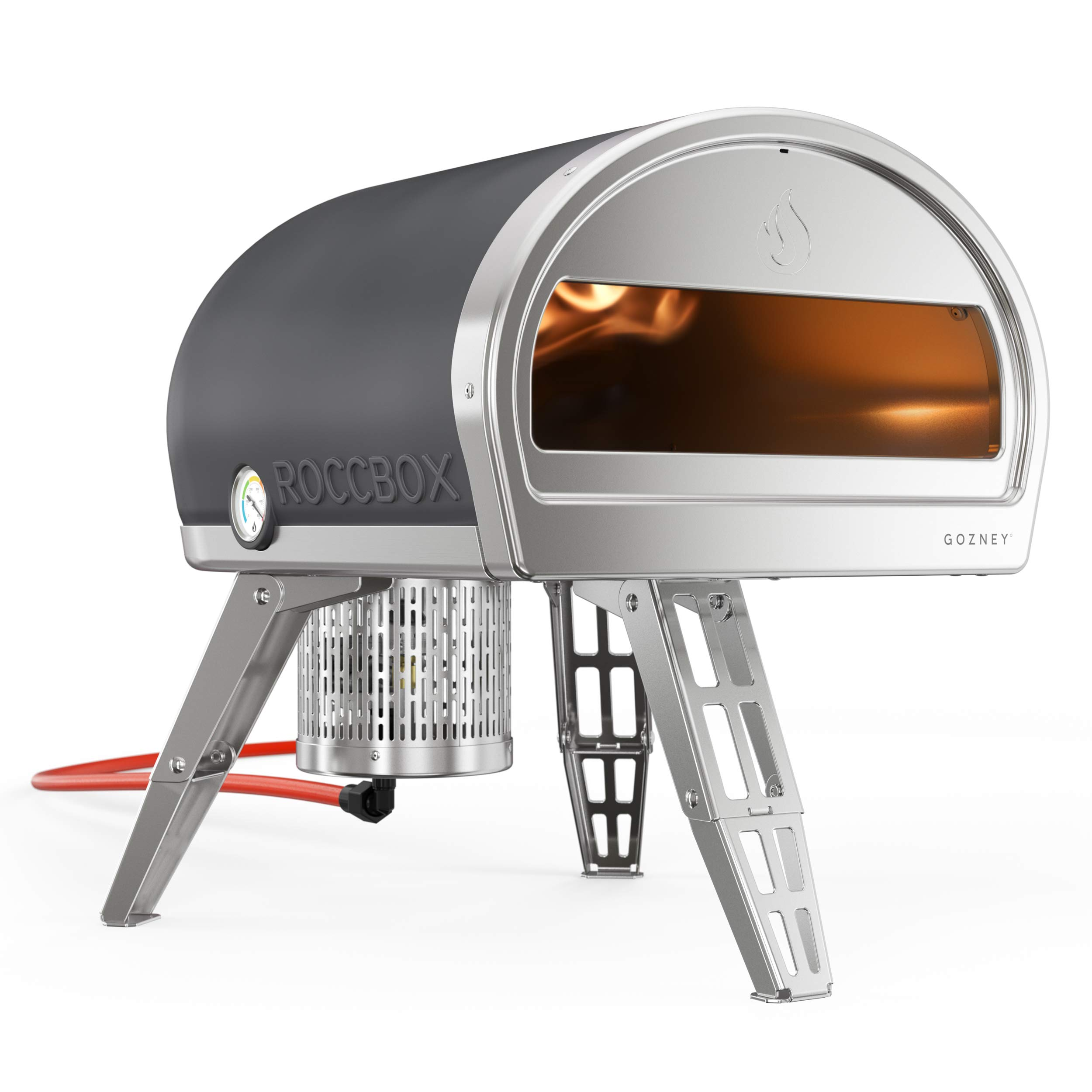 Roccbox Portable Outdoor Pizza Oven - Gas or Wood Fired, Dual-Fuel, Fire & Stone Outdoor Pizza Oven - Currently Includes Professional Grade Pizza Turning Peel