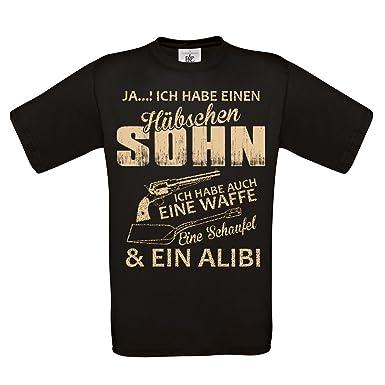 Herren T-Shirt schwarz Modell: Hübscher Sohn