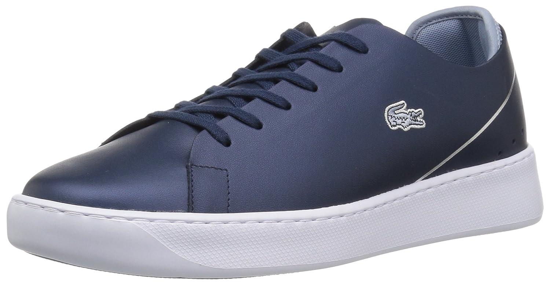 Lacoste Women's Eyyla Sneakers B072R2YY61 5 B(M) US|Nvy/Light Blue Leather