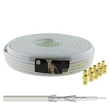130 db 25 m Coaxial - satélite HQ 4-capas para DVB-S/