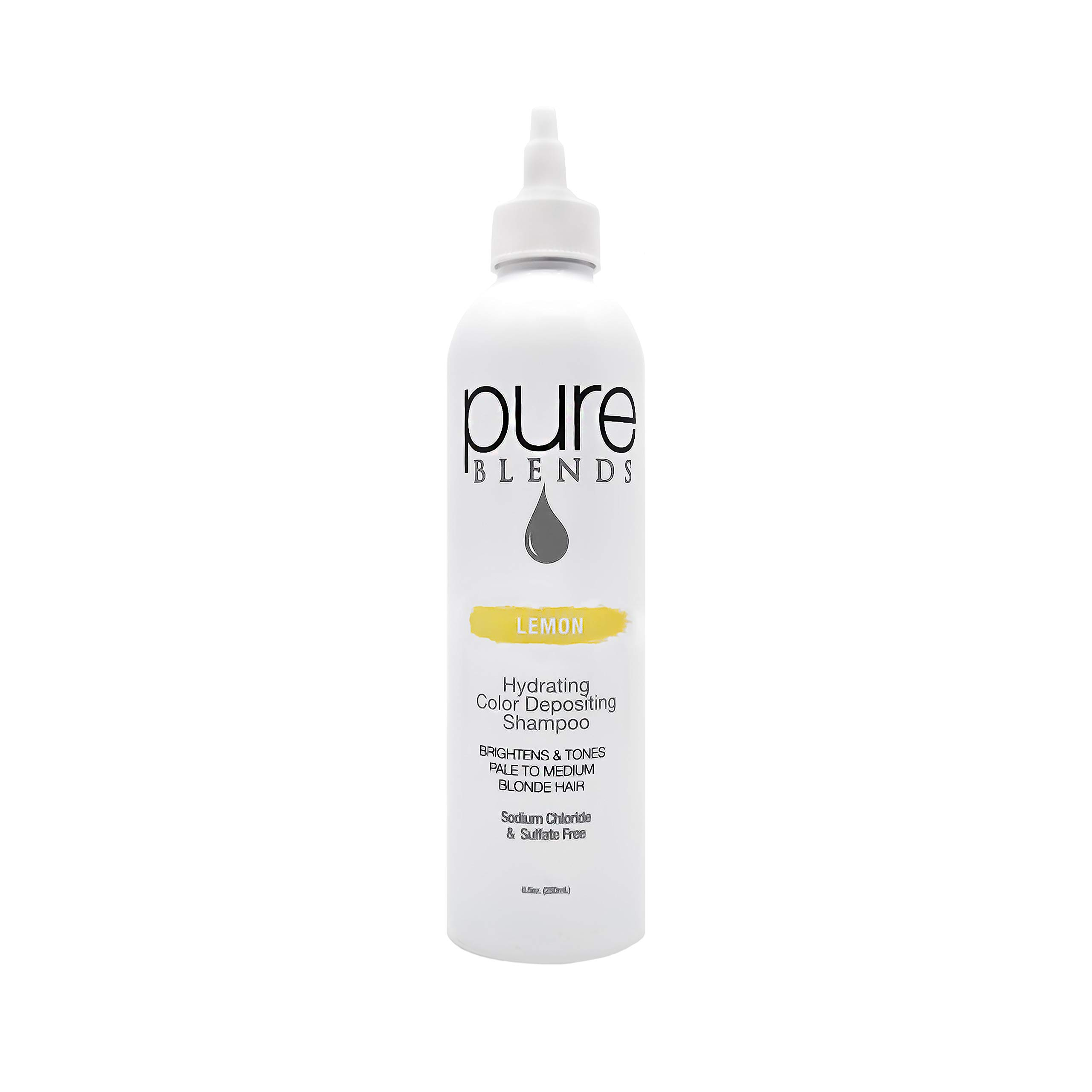 Pure Blends Hydrating Color Depositing Shampoo - Lemon (Pale to Medium Blonde Hair) 8.5 Ounce - Salon Quality by Pure Blends