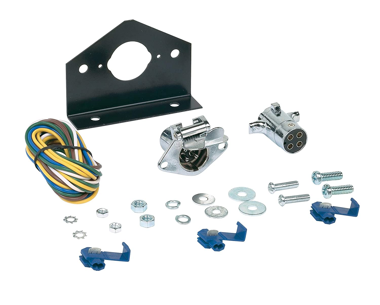 Hopkins 48285 4-P le Round Connector Kit Hopkins Towing Solution