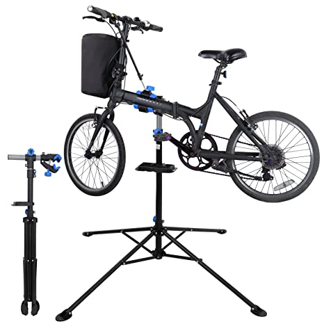 f502d732670 Amazon.com   ZENY Adjustable Mechanic Bike Repair Stand Bicycle Maintenance  Rack Workstand with Tool Tray 360 Degree Rotate Telescopic Arm Cycle    Sports   ...