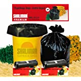 Shalimar Premium Garbage Bags (Extra Large) Size 76 cm x 94 cm 6 Rolls (90 Bags)