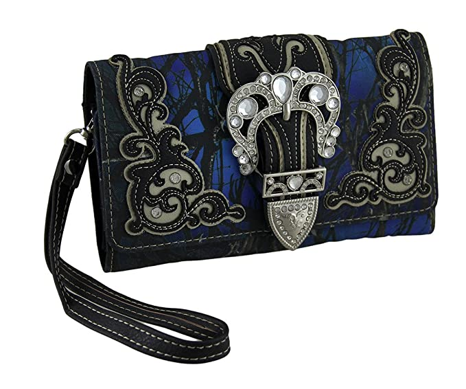 Amazon.com: Vinilo Womens Wallets Moonlight Camo Rhinestone ...