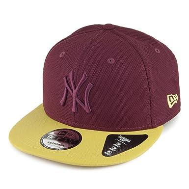 Gorra béisbol 9FIFTY Diamond New York Yankees New Era-Burdeos-Amarillo -  Small Medium  Amazon.es  Ropa y accesorios 291fd0f1235