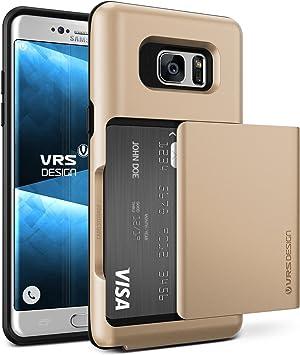 VRS DESIGN Funda para Samsung Galaxy S7 Edge | Damda Glide Carcasa en Oro | Estuche Cover Case Protector + Slot Card: Amazon.es: Electrónica