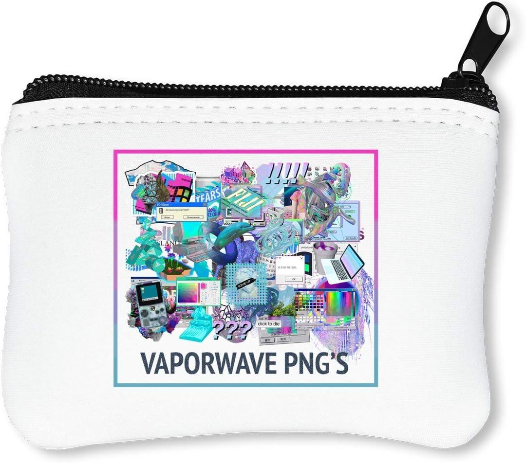 Vaporwave PNG JPEG Billetera con Cremallera Monedero Caratera: Amazon.es: Equipaje