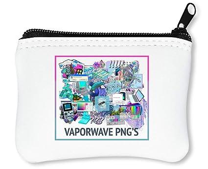 Vaporwave PNG JPEG Billetera con Cremallera Monedero ...